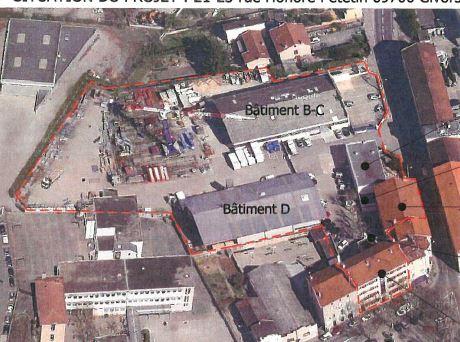 GIVORS  A vendre tènement immobilier D'une surface de 4 450 m2