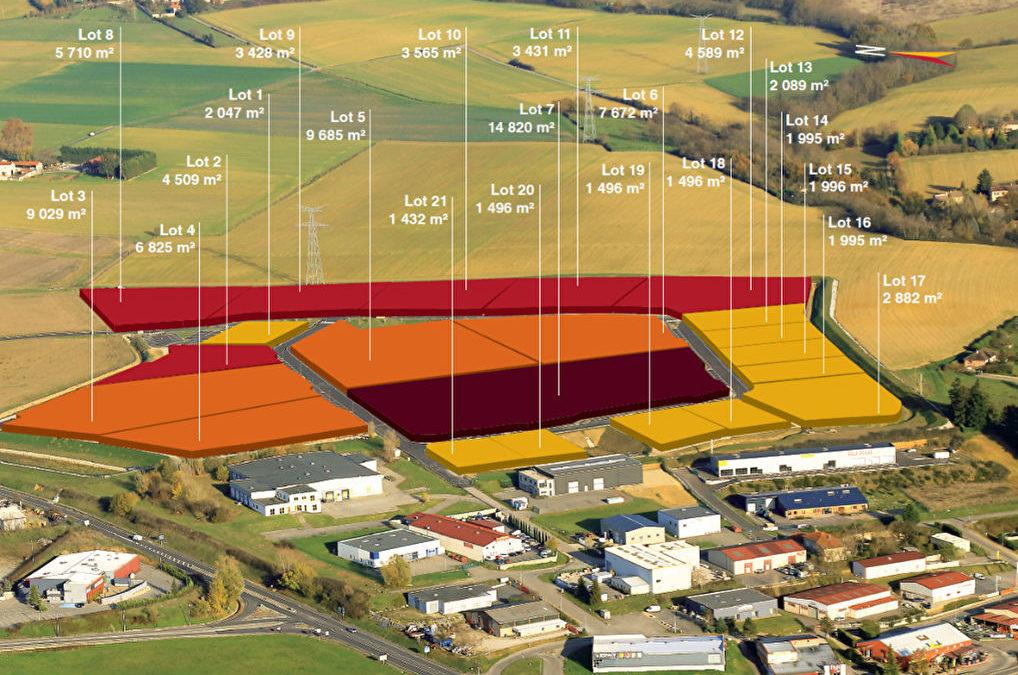 Terrain de 1500 m² à 14000 m²
