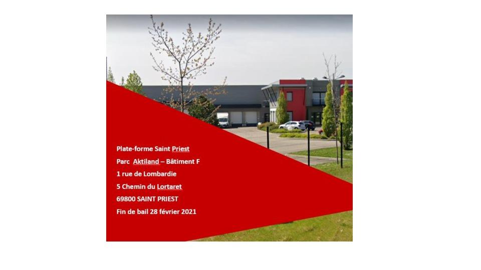 Local d'activité  A LOUER à Saint Priest (550 m2)